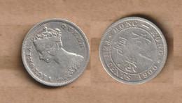 HONG KONG    10 Cents - Victoria 1900  Silver (.800) • 2.7 G • ⌀ 18 Mm KM# - Hong Kong
