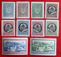 Paus Pius XII Pope 1945 Mi 103-112 Yv 112-119 + Expresse Ongebruikt/ MH VATICANO VATICAN VATICAAN - Unused Stamps
