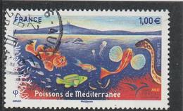 FRANCE 2016 POISSONS DE MEDITERANNEE OBLITERE YT 5077- - Usati