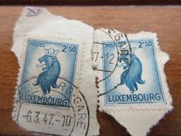 2 Timbres Du Luxembourg Lion Couronné 2F50 - Gebruikt