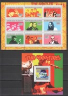 BC346 2010 GUINEE GUINEA FAMOUS PEOPLE THE BEATLES 1KB+1BL MNH - Singers