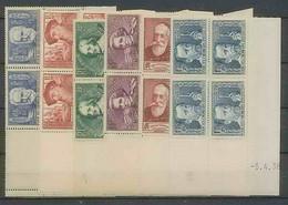 1283 - France - Coin Daté TB Neuf ** N°380/385 CHOMEURS INTELLECTUELS - 1930-1939