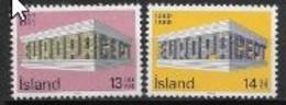 Islande 1969 Neufs ** N° 383/384 Europa - 1969