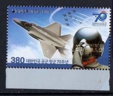 Korea, South 2019.  Aviation Airplane Air Force Pilot.  MNH - Corea Del Sur