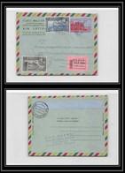 1815/ Ethiopie (Ethiopia) Entier Stationery N° 12 Aérogramme Air Letter Recommandé 1955 Pour Allemagne Germany - Ethiopie