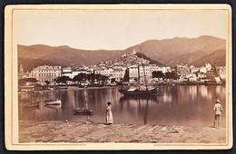 ITALIA SANREMO VON DER SEESEITE FOTO KARTON ORIGINAL 1890 - Lieux