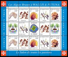 WALLIS ET FUTUNA 2004 - Yv. BF 17 **   Faciale= 7,29 EUR - Salon Du Timbre. Plantes Marines (6 Val.)  ..Réf.W&F23411 - Blocks & Sheetlets