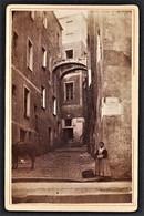 ITALIA SANREMO ALTE STRASSE FOTO KARTON ORIGINAL 1890 - Lieux