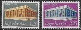 Yougoslavie 1969 Neufs ** N° 1252/1253 Europa - 1969