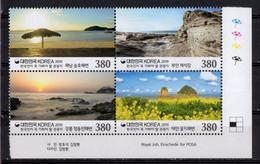 Korea, South 2019.  Tourist Destinations. Beaches. Rocks. Sea. Flowers. MNH - Corea Del Sur