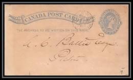 3226/ Canada Entier Stationery Carte Postale (postcard) N°8 1 Cent Blue 1883 - 1860-1899 Règne De Victoria