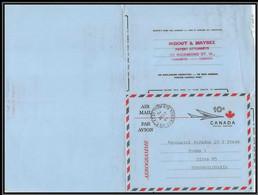 3239/ Canada Entier Stationery Aérogramme Air Letter 1961 Tchécoslovaquie (Czechoslovakia) - 1903-1954 Rois