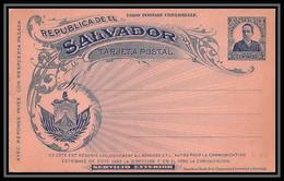 3498/ Salvador Entier Stationery Carte Postale (postcard) N°43 Neuf (mint) 1897 - El Salvador