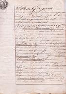 NEDERLANDS BEWIND  - AKTE 1820 - GETUIGE HERBERGIER  DE BRUYNE ( SINAY ) Aan BRUNO ROGMAN & THUYSBAERT ( LOKEREN ) - Historical Documents
