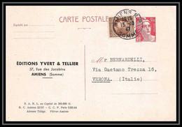 5078/ Gandon 3f50 1947 + Complement Verona Italia Carte Postale Postcard France Entier Stationery - Standard- Und TSC-AK (vor 1995)