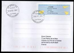 Enveloppe Vignette AP SPID 148 Sodexo La Poste 00200 HUB ARMEES Du 08/10/2019 - Cachets Militaires A Partir De 1900 (hors Guerres)