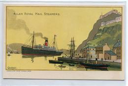 """CANADA QUEBEC  Carte RARE   Jolie Carte PUBLICITE  Pour """" ALLAN Royal Mail Steamers """" Illustrateur     D10 2021 - Other"""