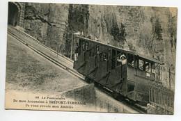 76 LE TREPORT TERRASSE Le Funiculaire En Ascencion  Joli Plan 1910 écrite   D10 2021 - Le Treport