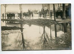 94 VITRY Sur SEINE Tirage CARTE PHOTO  Attelage Chevaux  Secours Pres CAFE Du .. E  Inondation 1910  D10 2021 - Vitry Sur Seine