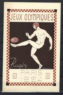 ⭐ France - Entier Postal - Rugby - Jeux Olympiques De 1924 ⭐ - Cartoline Postali E Su Commissione Privata TSC (ante 1995)