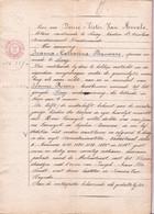 AKTE VERKOOP Hofstede Molenstraat SINAY 1875 - Spinster JOANNA BAUWENS Aan Landbouwer JOANNES ROOMS - Historical Documents