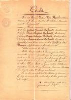 AKTE KAVELING 1868 SINAY - Tussen KINDEREN JACOBUS DE SMEDT En JOANNA DE SMEDT / De Bruyne - Historical Documents