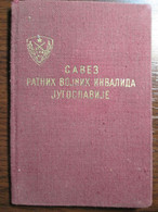 Yugoslav Alliance Of WW2 Invalids ID Card - Historical Documents