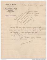 47 CAHUZAC Par CASTILLONNES FACTURE 1924  Cycles Et Autos J. MARVIER - Y2 - 1900 – 1949