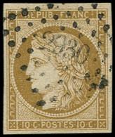 EMISSION DE 1849 - 1    10c. Bistre-jaune, Très Belles Marges, Obl. PC 2930 De SOUBIZE, TTB. Br - 1849-1850 Ceres