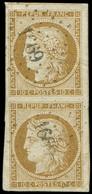 EMISSION DE 1849 - 1    10c. Bistre-jaune, PAIRE Obl. PC 1669 De LAUZERTE, Grandes Marges, Superbe. C - 1849-1850 Ceres