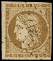 EMISSION DE 1849 - 1b   10c. Bistre-VERDATRE, Nuance Soutenue, Obl. PC 2217, TB/TTB - 1849-1850 Ceres