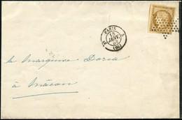 Let EMISSION DE 1849 - 1    10c. Bistre-jaune, Obl. ETOILE S. Faire-part, Càd T1330 3e PARIS 5 18/1/53, Arr. Macon, TTB - 1849-1876: Periodo Classico