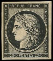 * EMISSION DE 1849 - 3    20c. Noir Sur Jaune, Frais Et TB. C - 1849-1850 Ceres