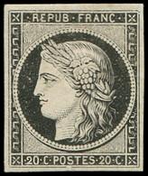 (*) EMISSION DE 1849 - 3a   20c. Noir Sur Blanc, TB - 1849-1850 Ceres