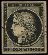 EMISSION DE 1849 - 3    20c. Noir Sur Jaune, Obl. ETOILE, TB/TTB - 1849-1850 Ceres