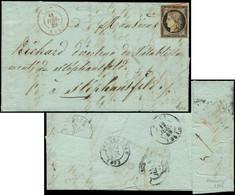 Let EMISSION DE 1849 - 3    20c. Noir Sur Jaune, Obl. GRILLE ROUGE S. LAC, Càd T15 METZ 11/7/49 En ROUGE également, RR E - 1849-1876: Periodo Classico