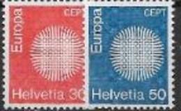 Suisse 1970 Neufs ** N° 855/856 Europa - 1970