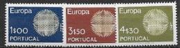 Portugal 1970 Neufs ** N° 1073/1075 Europa - 1970