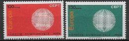 Turquie 1970 Neufs ** N° 1952/1953 Europa - 1970