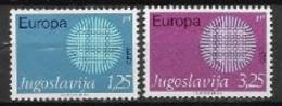 Yougoslavie 1970 Neufs ** N° 1269/1270 Europa - 1970