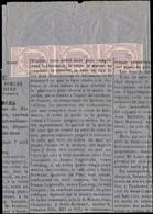 Let JOURNAUX -  1 : 2c. Lilas BANDE De 3 Obl. TYPO S. Affiche Complète Datée Du 7/4/70 à St Gaudens, TTB - Zeitungsmarken (Streifbänder)