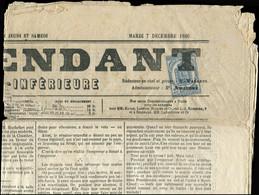 """Let JOURNAUX -  8 : 2c. Bleu, Obl. TYPO Sur Journal """"L'INDEPENDANT De La Charente Inférieure"""" Du 7/12/69, TB - Zeitungsmarken (Streifbänder)"""