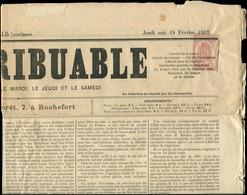 """Let JOURNAUX -  9 : 2c. Rose Obl. TYPO Sur Journal """"LE CONTRIBUABLE"""" Du 18/2/69, TB - Zeitungsmarken (Streifbänder)"""
