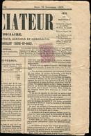 """Let JOURNAUX -  10 : 5c. Lilas, Obl. TYPO S. Journal """"L'ANNONCIATEUR"""" Du 25/9/69, TB - Zeitungsmarken (Streifbänder)"""