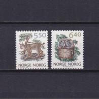 NORWAY 1991, Mi# 1059-1060, Fauna, Animals, Birds, MNH - Hiboux & Chouettes