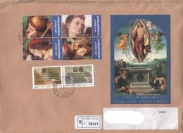 """Vaticano - 2005 - FDC """"Il Perugino + Concordato Stato-Chiesa"""" S. Cpl 4v+2v+1foglietto - FDC"""