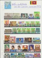 6 Planches De Timbres Du SRI LANKA ILE DE CEYLAN (201 Timbres) - Sri Lanka (Ceylon) (1948-...)