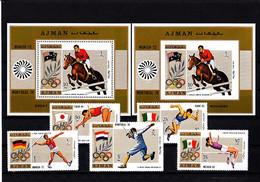 Olympics 1972 - Equestrian - Fencing - AJMAN - LOT Perf.+imp. MNH - Sommer 1972: München