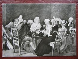 Weimar - Wittumspalais: Gemälde (G. M. Kraus) Tafelrunde - Weimar
