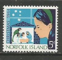 Norfolk Island  - 1964 Christmas 5d MNH **   SG 57  Sc 68 - Isola Norfolk